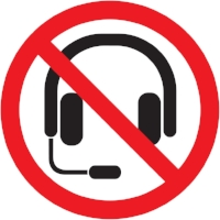 No blue tooth headsets.