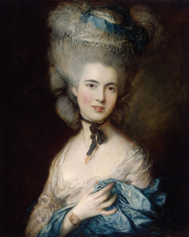 A Woman in Blue (Portrait of the Duchess of Beaufort), by Thomas Gainsborough