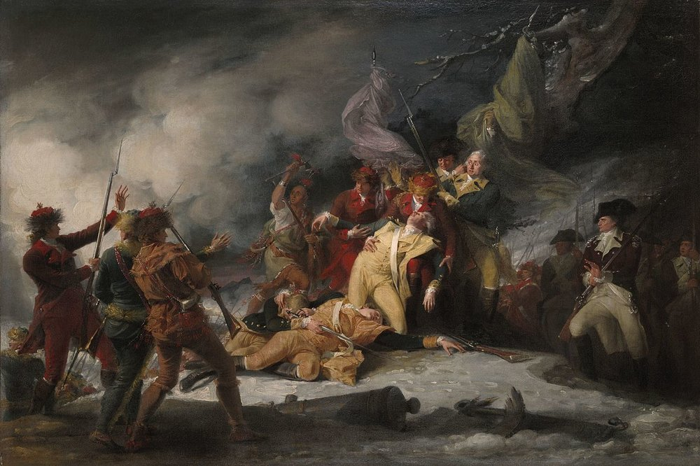 The Death of General Montgomery in the Attack on Quebec, December 31, 1775  By John Trumbull - 1786