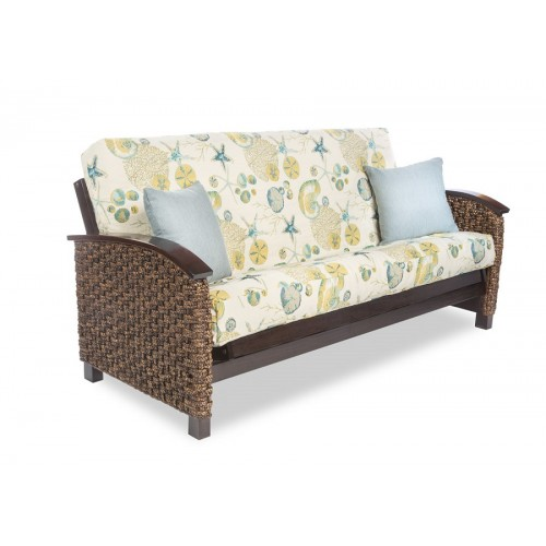 Bahama Rattan Complete Futon Sofa Queen Size