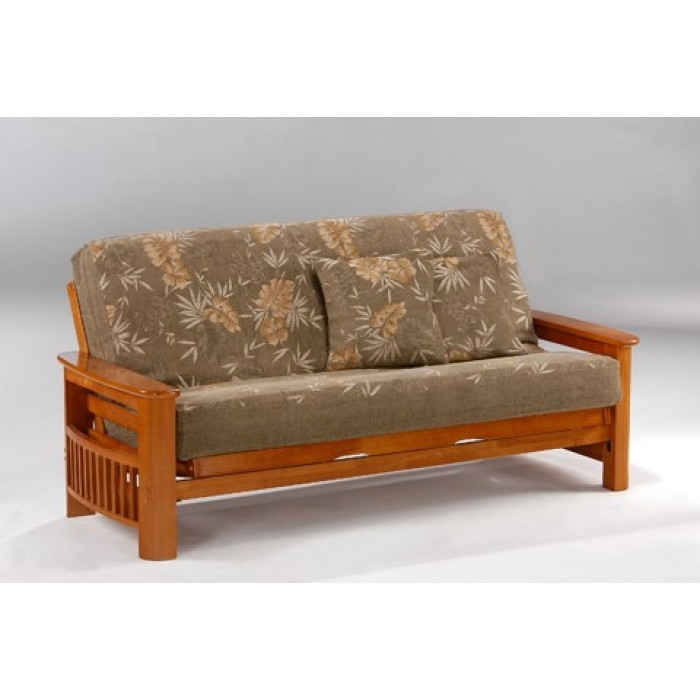 Ordinaire Honey Oak Portofino Complete Futon Sofa Queen Size