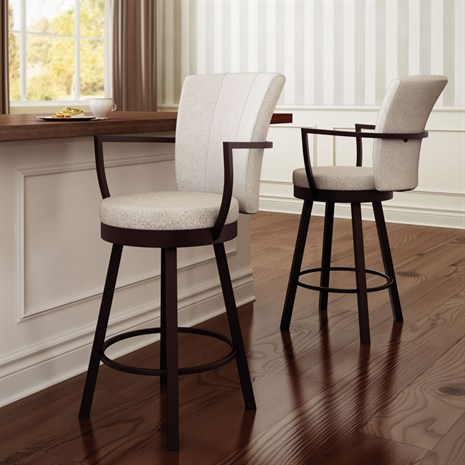 Cardin - Counter or Bar Height$329.00In-Store Purchase OnlyCustomize your barstools and choose from a generous selection of metal finishes, woods and seat coverings.