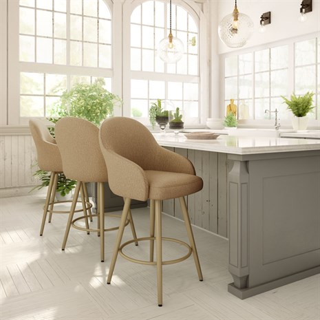 Weston  - Counter or Bar Height$499.00In-Store Purchase OnlyCustomize your barstools and choose from a generous selection of metal finishes and seat coverings.