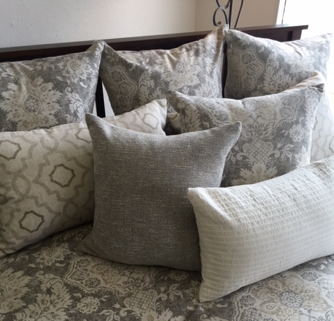 Pillows - All our cover fabrics are also available as pillows. We offer four sizes: 20 x 20, 24 x 24, 22 x 14 lumber and bolsters. If you don't see the fabric you are looking for call our showroom 954 566 1230.