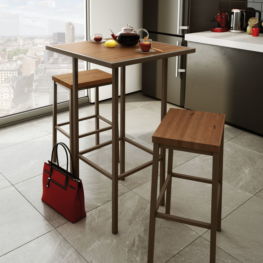 Bradley - Non-Swivel Counter or Bar Height with Upholstered Seat$129.00Non-Swivel Counter or Bar Height with Wood Seat$149.00In-Store Purchase OnlyCustomize your barstools and choose from a generous selection of metal finishes, woods and seat coverings.