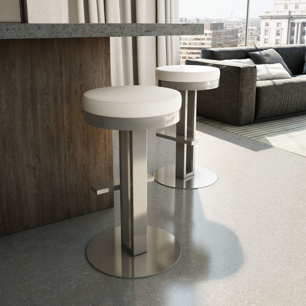 Glint - Counter or Bar Height$349.00In-Store Purchase OnlyCustomize your barstools and choose from a generous selection of metal finishes and seat coverings.