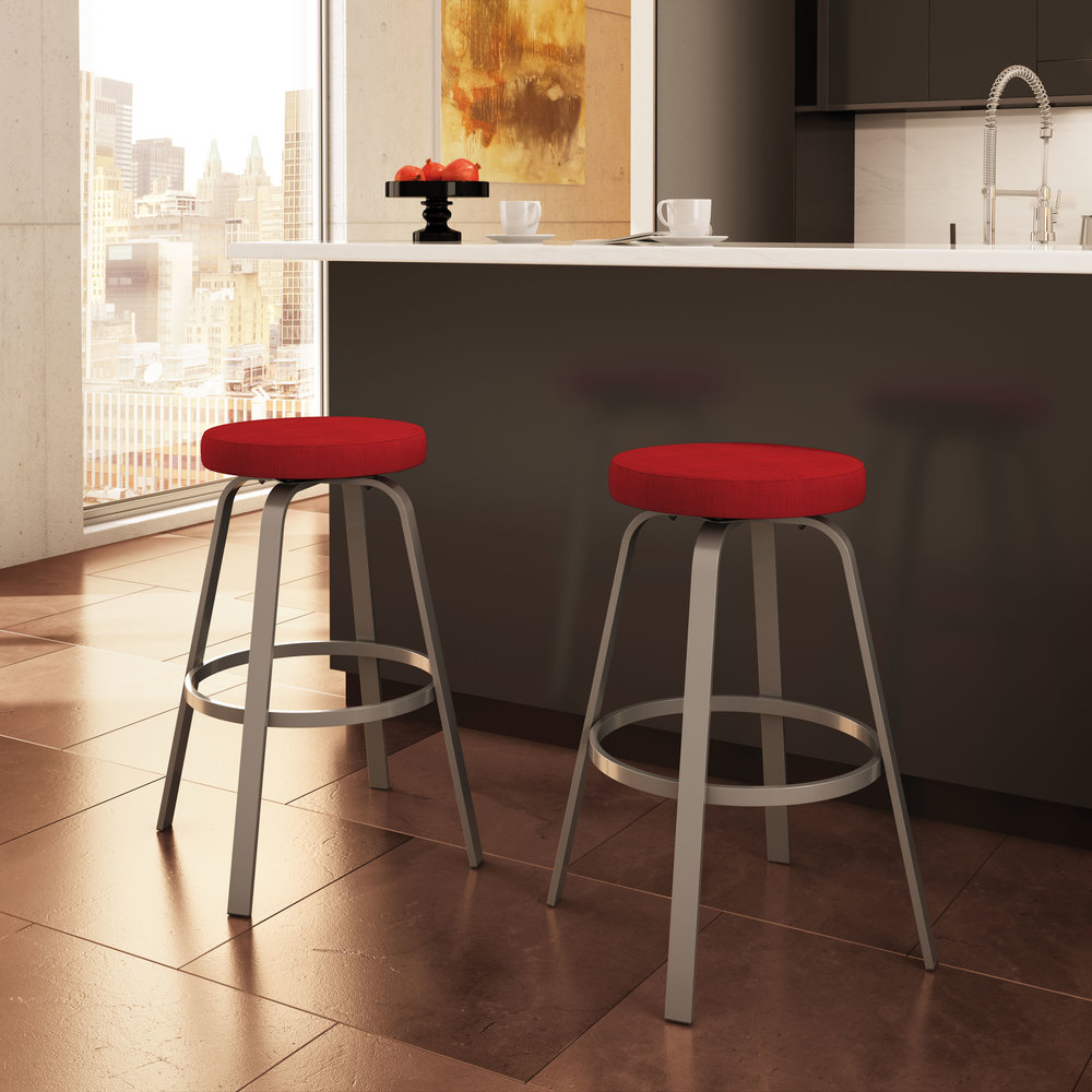 reel - Counter or Bar Height$149.00Spectator Height$199.00In-Store Purchase OnlyCustomize your barstools and choose from a generous selection of metal finishes and seat coverings.