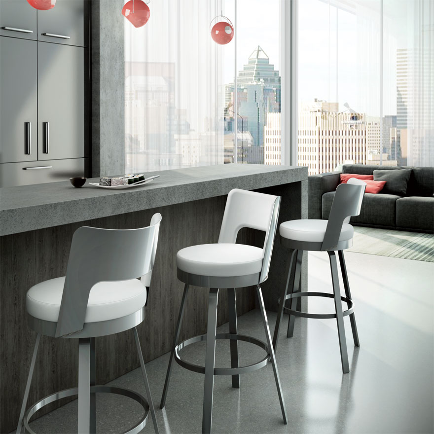 brock - Counter or Bar Height$265.00Spectator Height$309.00In-Store Purchase OnlyCustomize your barstools and choose from a generous selection of metal finishes and seat coverings.