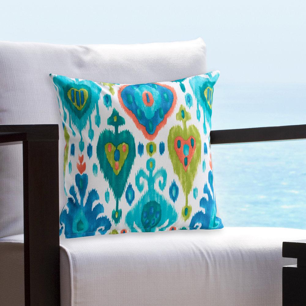 Indoor / outdoor fabrics are fade and mildew resistant.