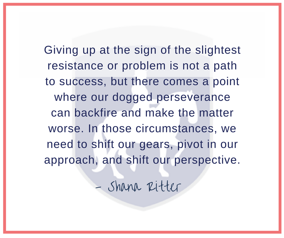 055 Giving up at the sign of the slightest resistance or problem is not a path to success....png