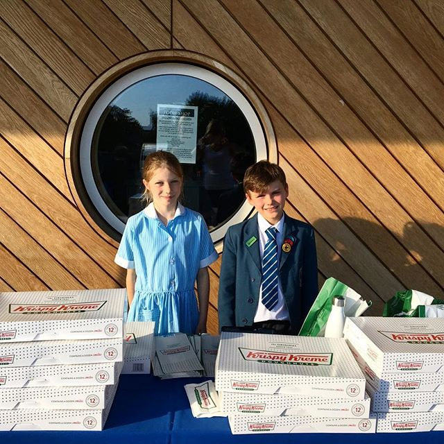 Another big thank you to the pupils of Danes Hill School, who raised a fantastic £315 selling Krispy Kreme donuts 🍩 #fundraising