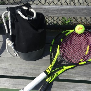"""Back in Black"" Ditty and tennis needs...I'd call that true love! (Submitted by Elizabeth Lorayne, Newburyport, Mass.)"