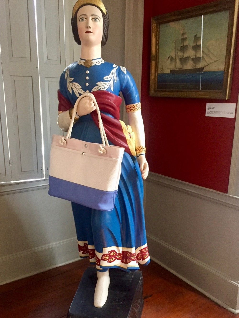 "Museum of Old Newbury's ""Landlocked Lady"" is ready for anything with her PORT•SACKS First Mate bag!"