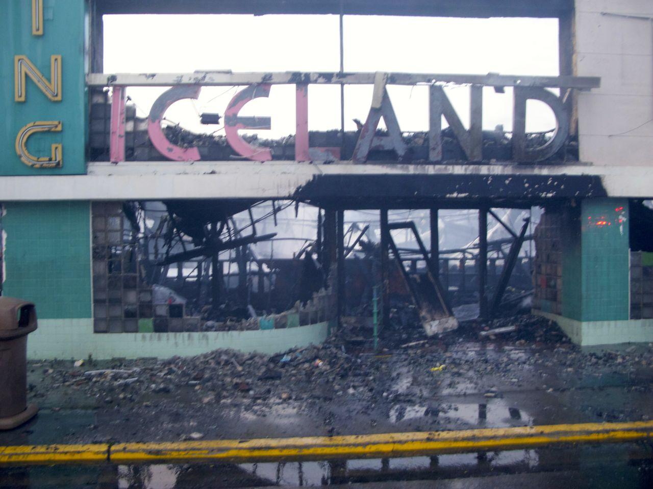 Iceland burned