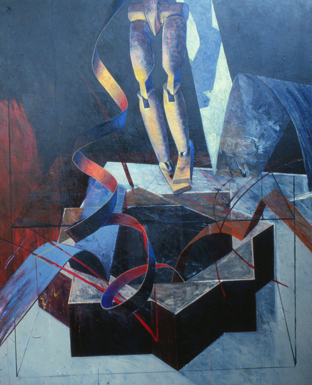 9) Untitled, 1981,acrylic on linen,  274.5x213.5cm .jpeg