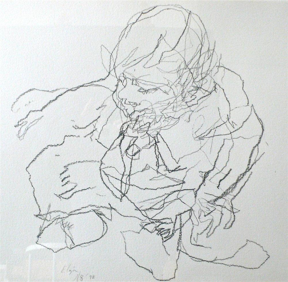 301) Eliza 1998 charcoal on paper 59x61cm.JPG