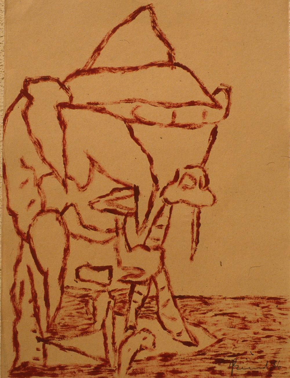 89) Camel 1986, oil on paper 76x56 cm.jpeg