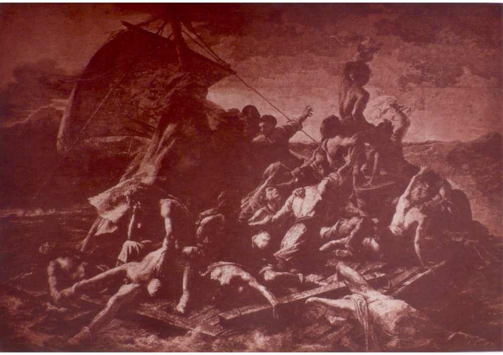 Photogravure etching from John Beard's painting After The Raft of the Medusa ( in collaboration with Bill Moseley )