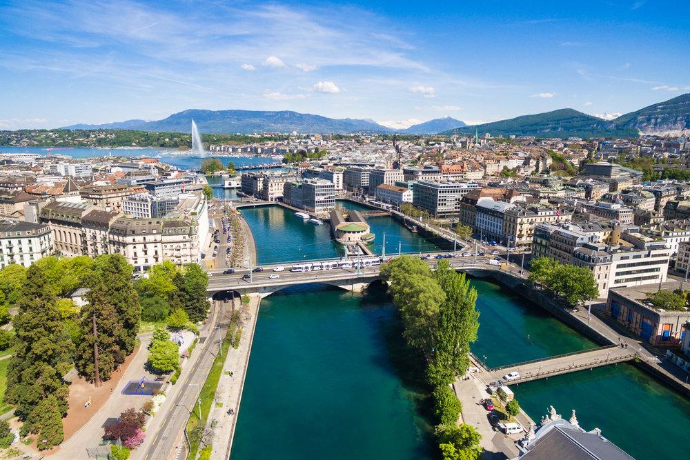Arial view of Geneva