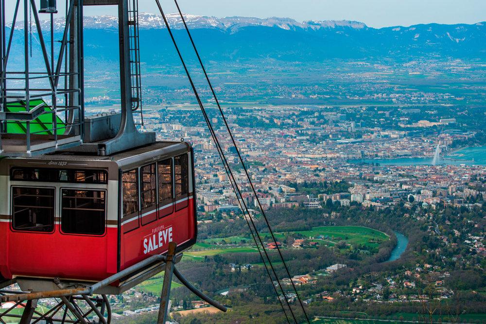 Salève mountain cable car