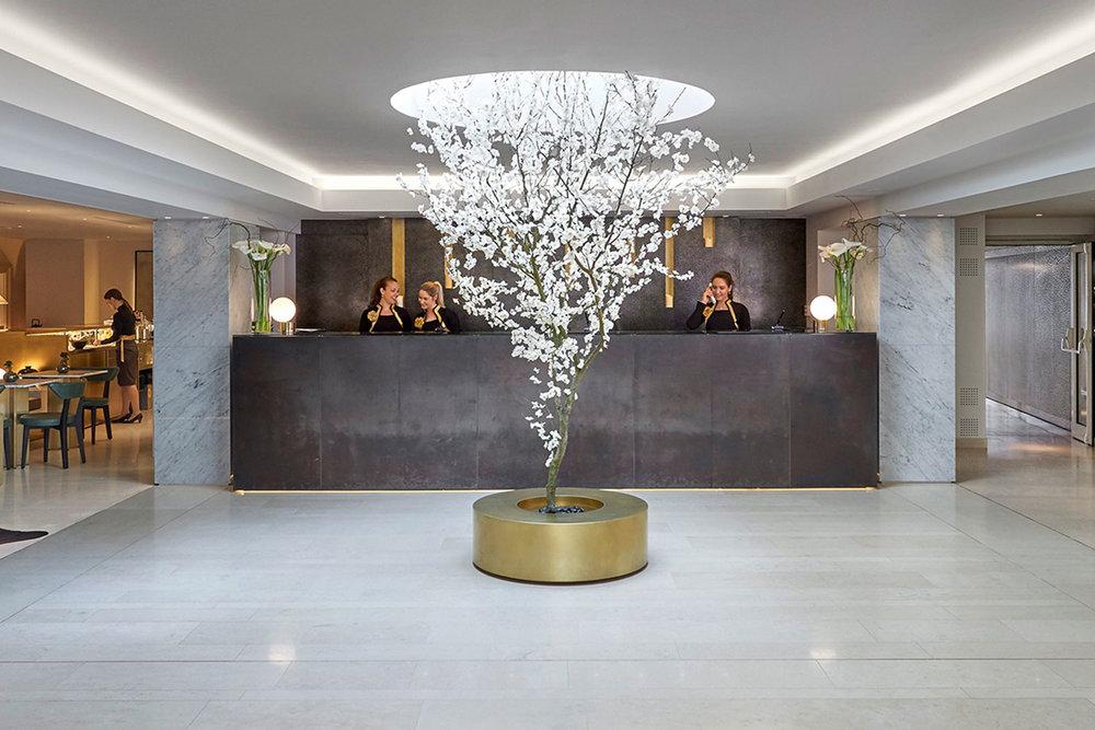Lobby at Mandarin Oriental Prague