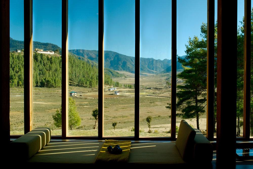 Gangtey living room view