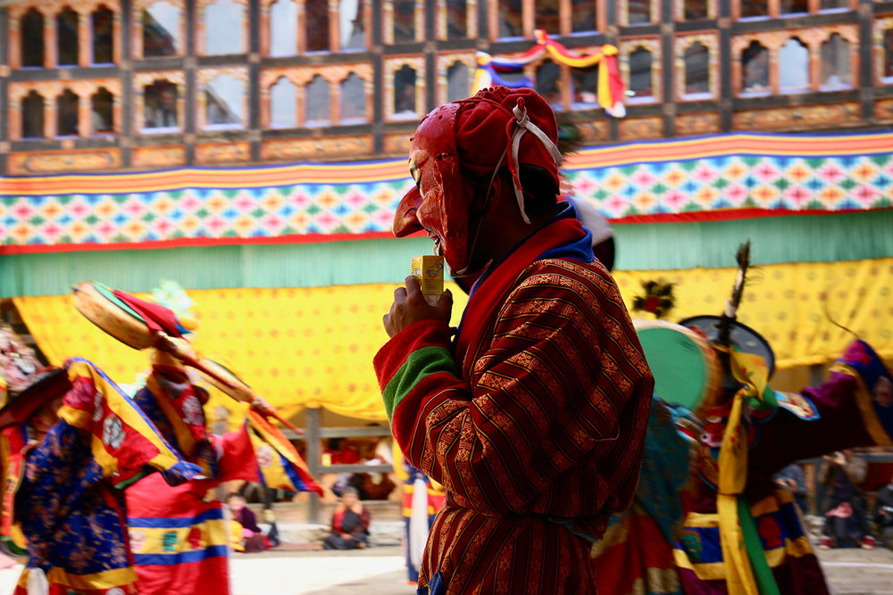 Bumthang festival performance