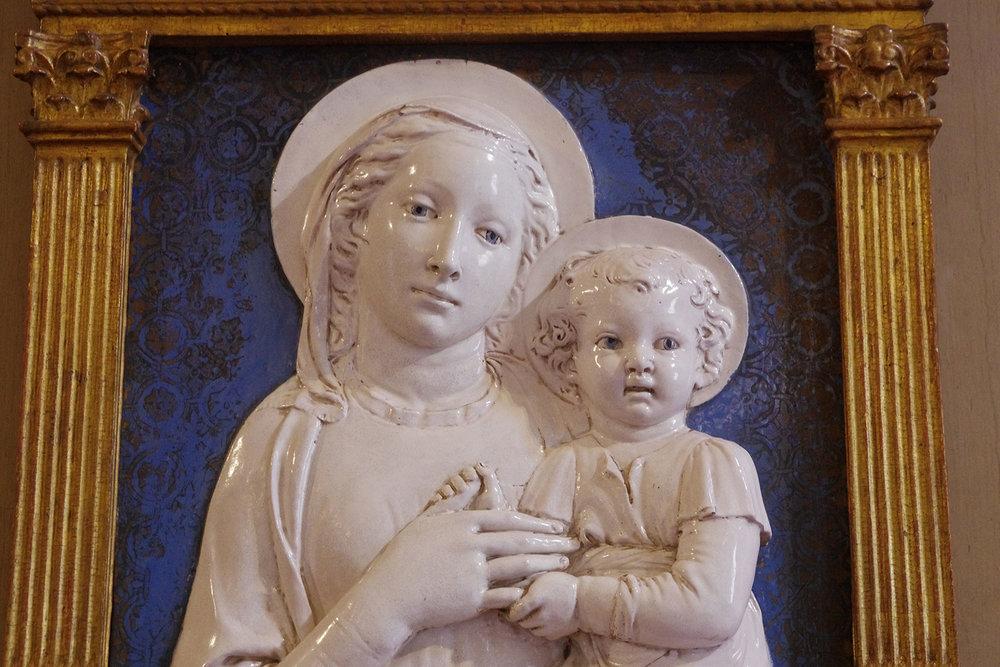 Madonna di Santa Maria Nuova  by Luca della Robbia