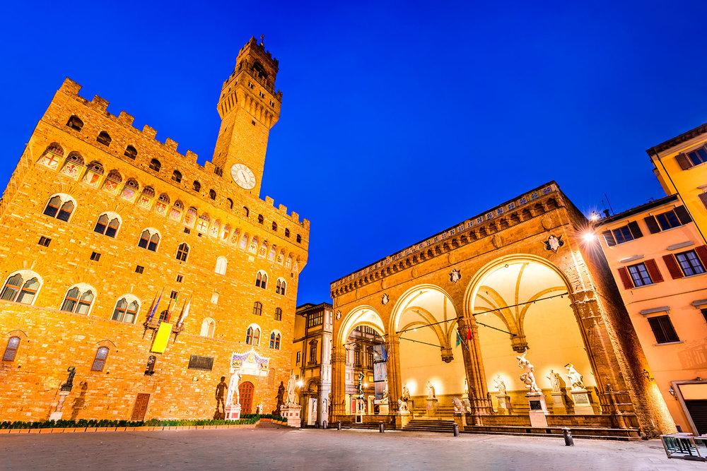 The Loggia dei Lanzi, Palazzo della Signoria
