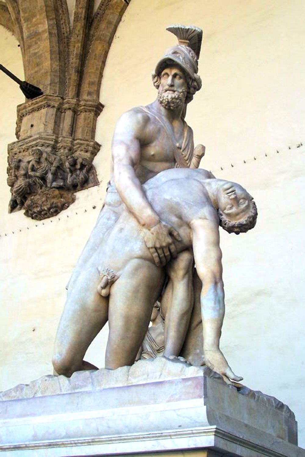 Menelaus Carrying the Body of Patroclus  originally by Vacca