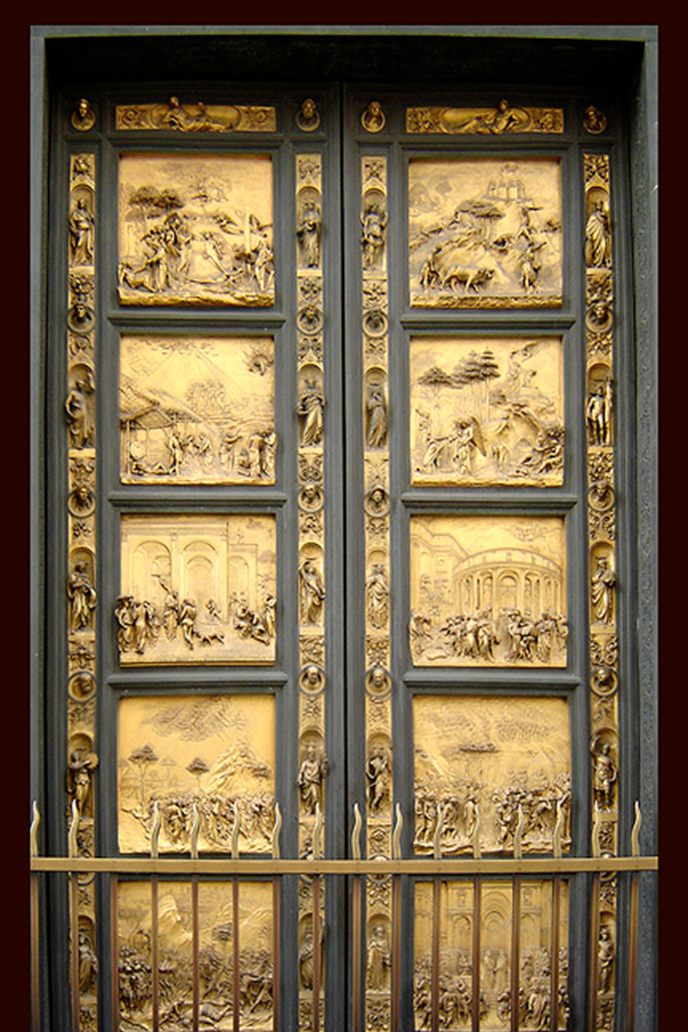 One of the doors at The Florence Baptistery