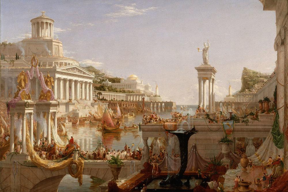 Course of Empire (The Consummation of Empire) , Thomas Cole