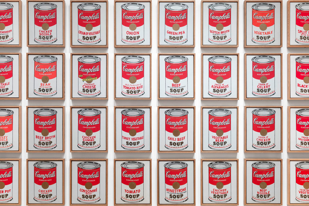 Campbell's Soup Cans , Andy Warhol