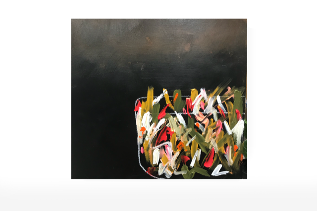 SOLD Night Cap  24x24- Acrylic on Cradled Birch