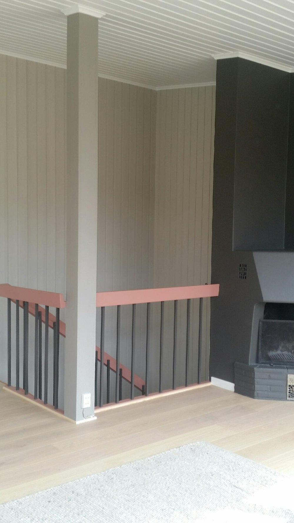Ny stue med nye farger