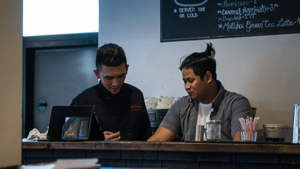 Left: Chef Rj Urbano, Right: Ryan San Diego Lasapin Pop Up Dinner  June 10, 2017 Photograph by Viewsualmedia