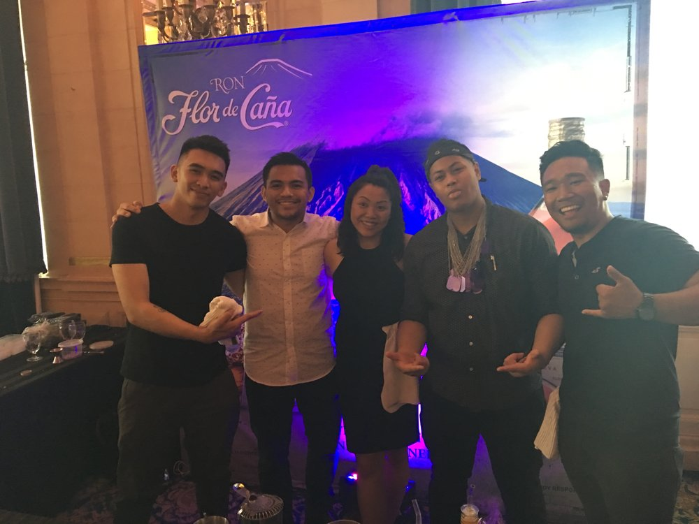 Left to Right: Chef & Co - Owner Rj Urbano, Aleck Amurao, Chanelle Tibay, Bartender and Co - Owner Ryan San Diego, Erwin Rivera