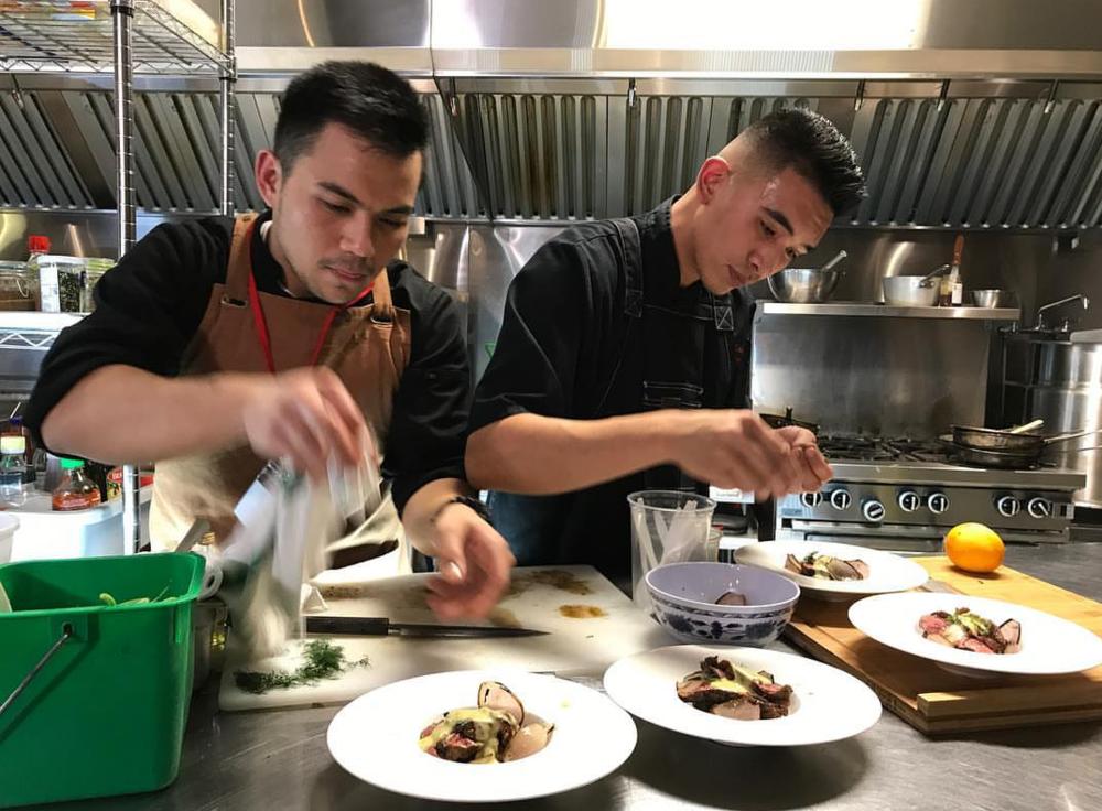 Left: Aleck Amurao Right: Head Chef RJ Urbano    Photograph by:  Pelagio Digital Media
