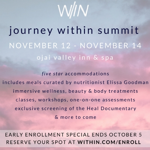 Journey Within Summit  Sign up at  within.com/enroll