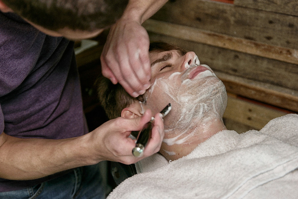 Signature Shave $35 - 7 Hot Towel Shave.