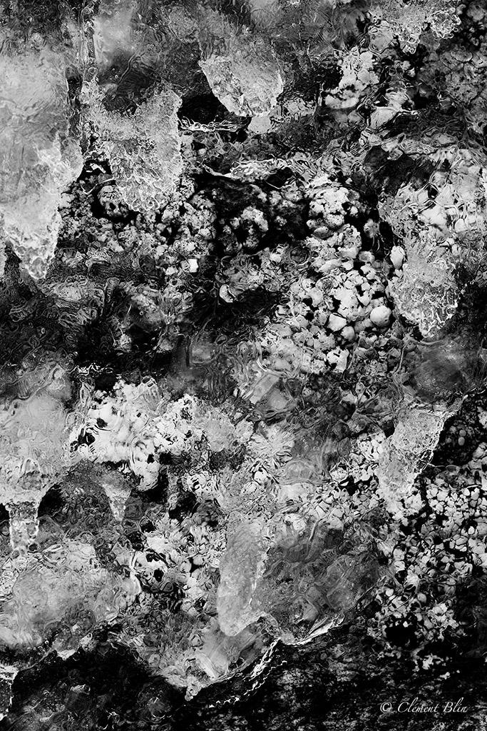 Glace et lichens