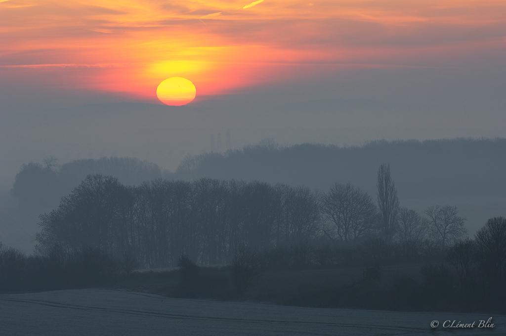 Lever de soleil sur le Vexin