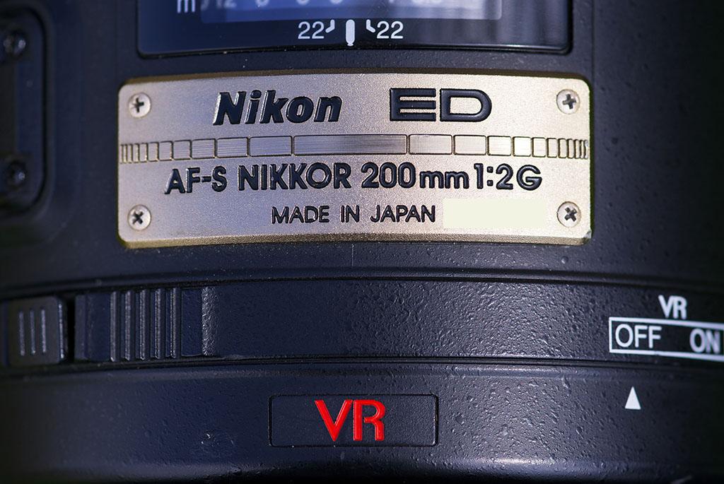 Nikkor 200mm f2 Vr