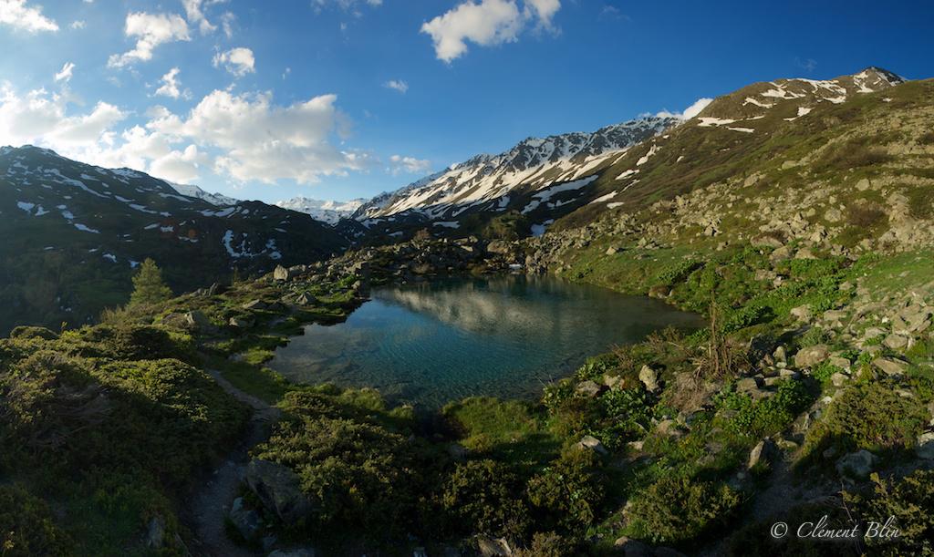 Prise de vue panoramique par assemblage d'une dizaine de photos