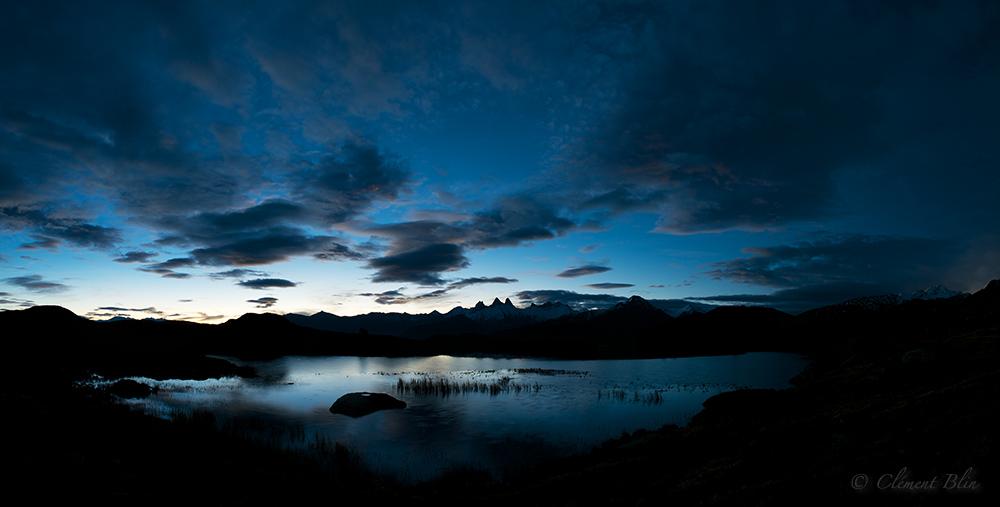 Lac Guichard.Premières lueurs du jour
