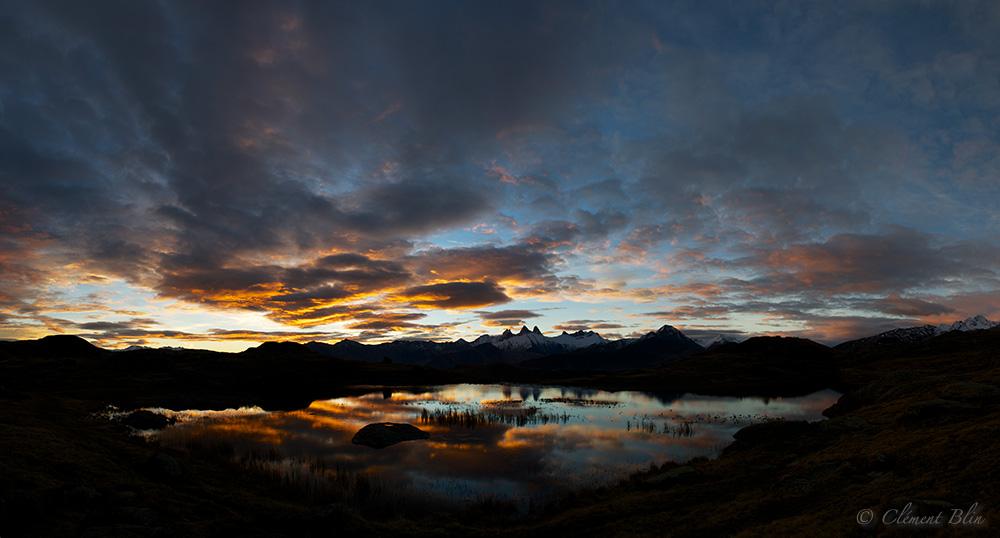 Lac Guichard.Lever du soleil