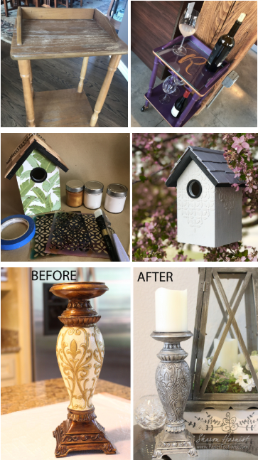 Examples of upcycled items.