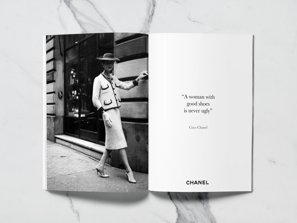 Coco Chanel (1883-1971) is the woman who gave her name to the brand. She represents elegance and beauty. By using the face of Chanel's creator, we remind the consumers it was founded by one of the most influential personalities of the fashion world.