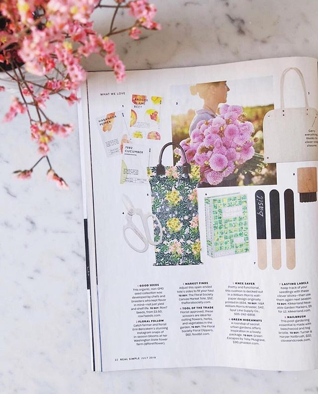 Have you seen us? We're over the moon to be featured in @real_simple this month! Everything you need for planting, growing, and collecting is what defines this summer season.  Find it all in our greenhouse and garden shop! #SpurLineSummer #SpurOfTheMoment