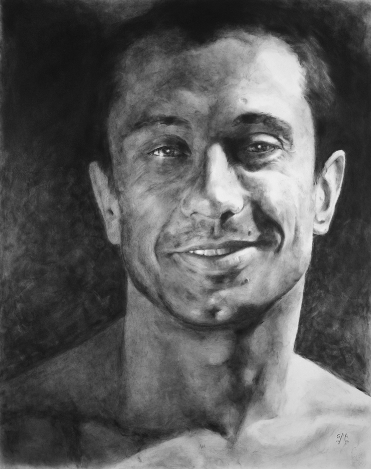 Marcelo Graphite on Paper 18x24  SOLD